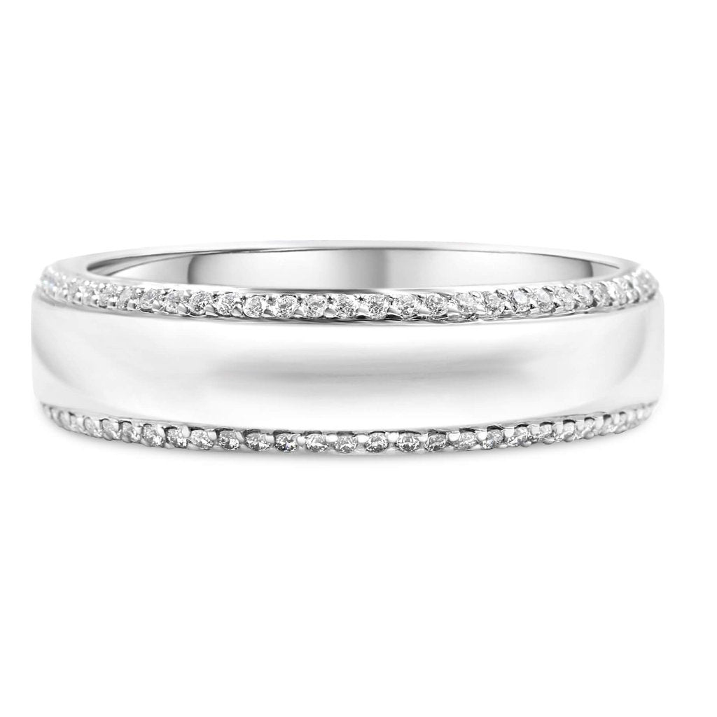 Bryce Men's Diamond Wedding Band In Platinum