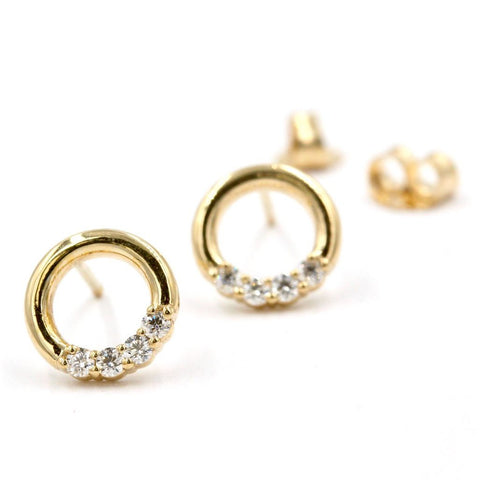 BUTTERCUP Diamond Earrings In 14K Yellow Gold