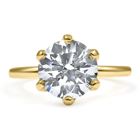 CATHERINE Round Solitaire Engagement Ring