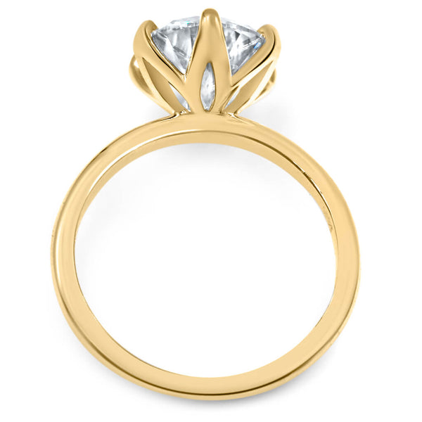 6 prong catherine 14k yellow gold moissanite