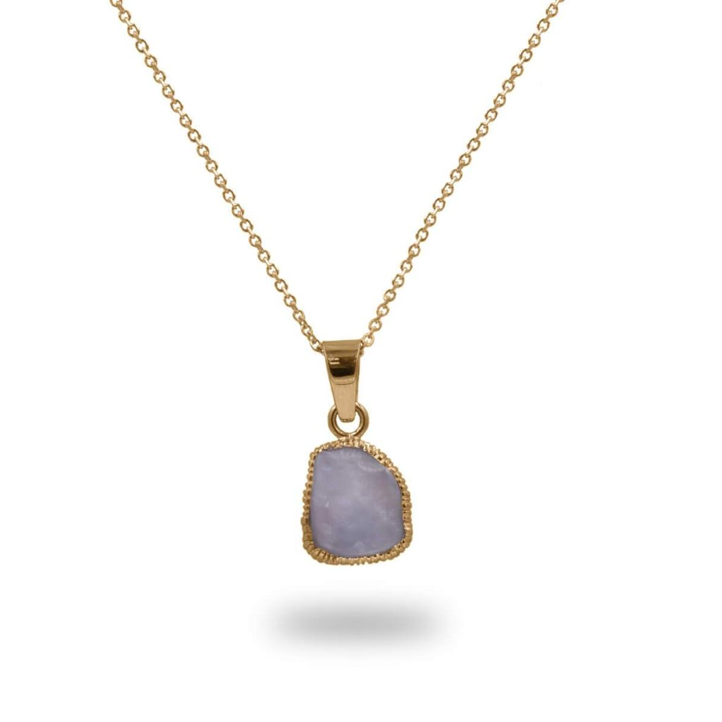 Magical Chalcedony Pendant in 14K Solid Gold