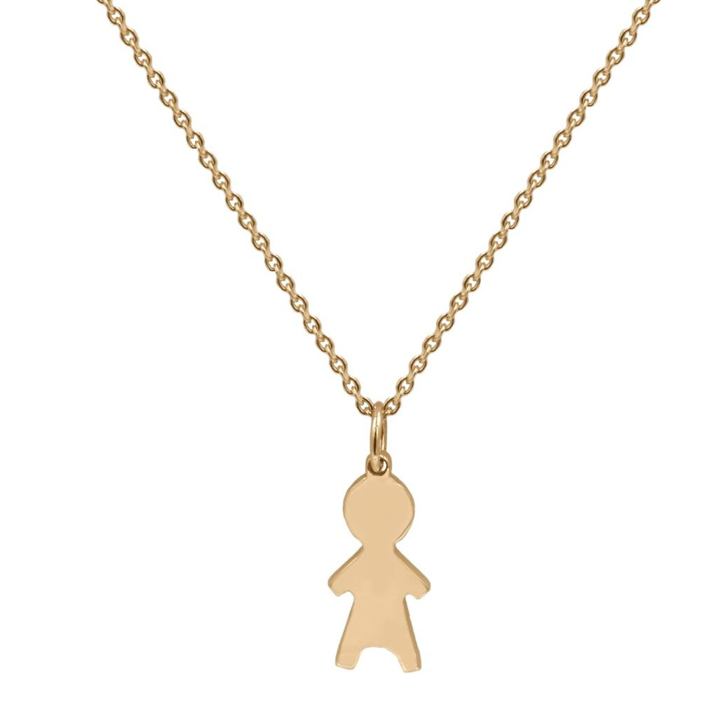 Child Charm Pendant in 14K Solid Gold