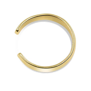 hand made chunky ear cuffs 14k yellow gold