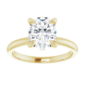 Oval Moissanite Solitaire Engagement Ring