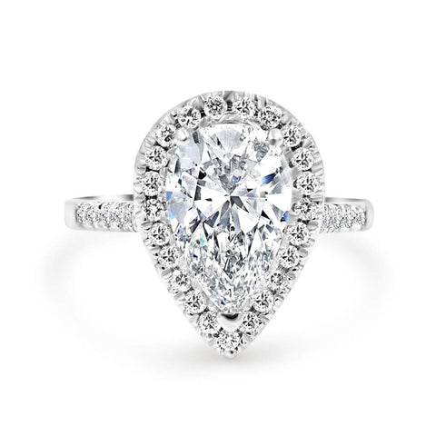 CORA | Pear shape Halo Engagement Ring