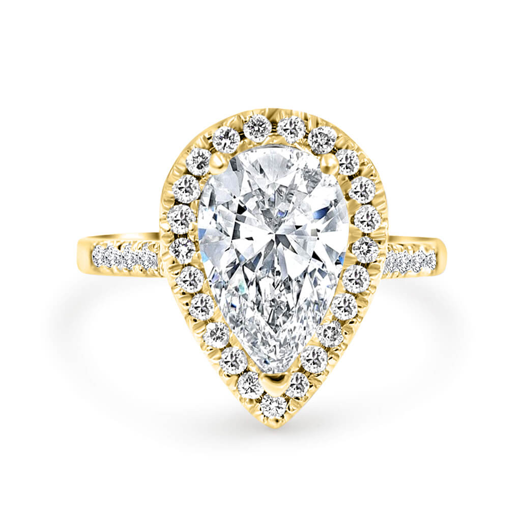 CORA Pear shape Diamond Engagement Ring