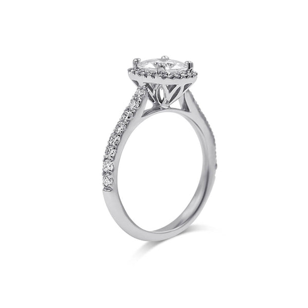 CRISTAL | Cushion Halo Engagement Ring