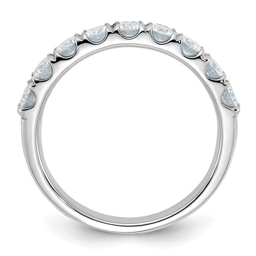 Round Moissanite Wedding Band