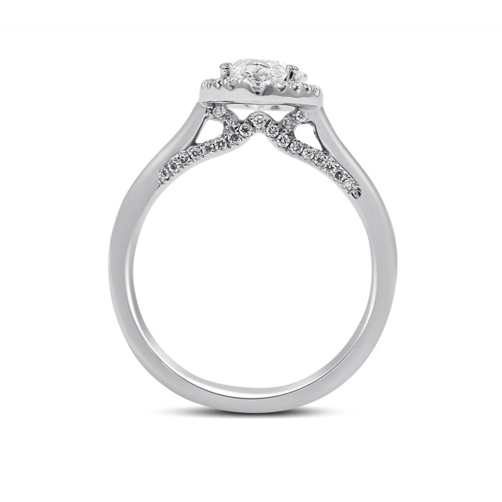DIANNA Pear Shape Diamond Engagement Ring