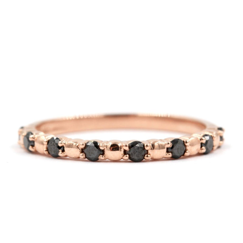 DAHLIA Stackable Diamond Ring - 14K Rose Gold