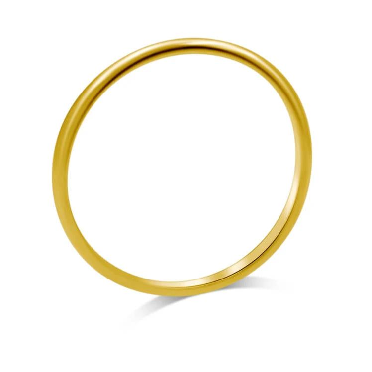 Thin Comfort Fit Band 1.8mm In 14K Gold