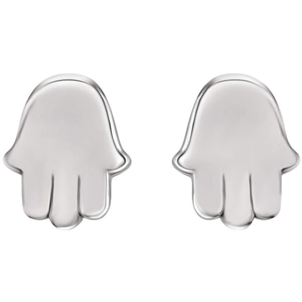 Hamsa Stud Earrings In 14K Gold