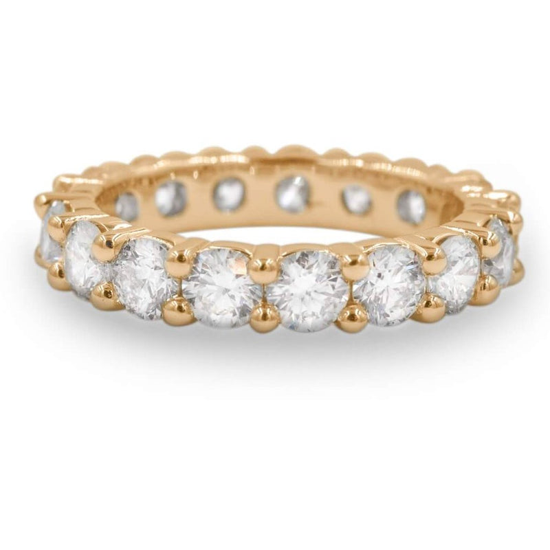 Diamond Eternity Band In 14K Yellow Gold