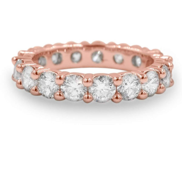 Diamond Eternity Band In 14K Rose Gold