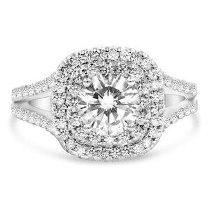 GABBY Double Halo Split Shank Engagement Ring