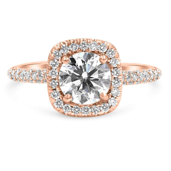 TARA | Round Cushion Halo Engagement Ring