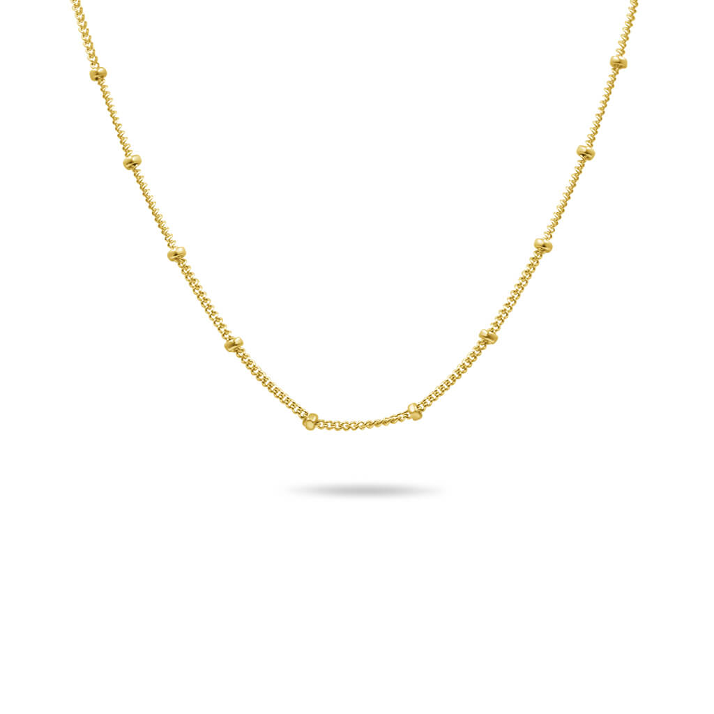 Beaded Chain in 14K Solid Gold