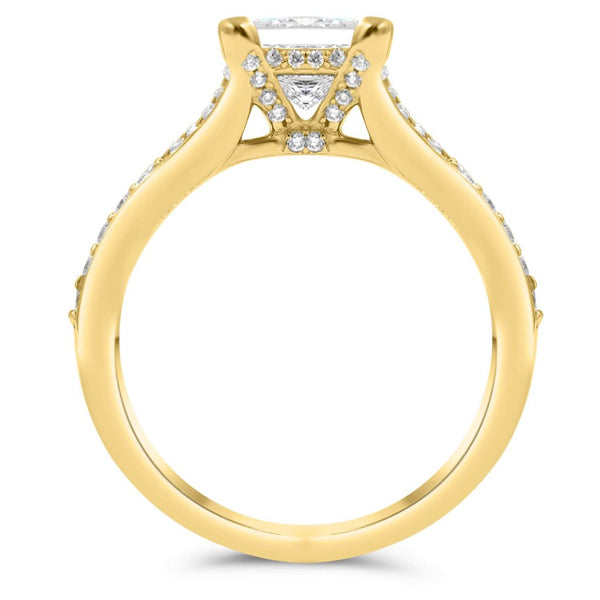 KIMBERLY | Princess Cut Split Shank Engagement Ring