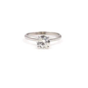 Diamond Solitaire Engagement Ring 1.08TCW In 14K White Gold