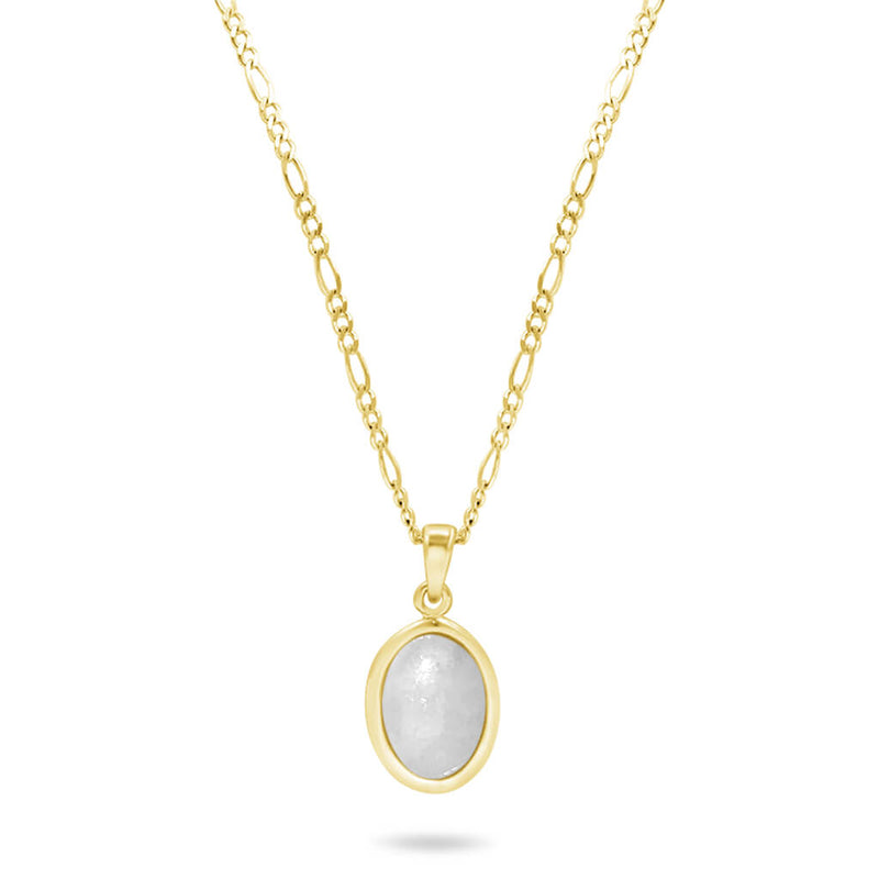jadeite necklace in yellow gold front view