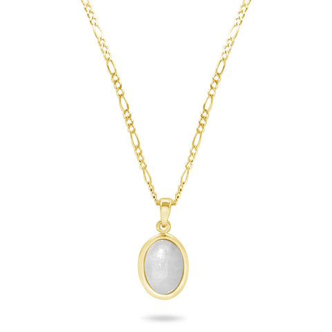 Dream Jadeite Pendant In 14K Solid Gold