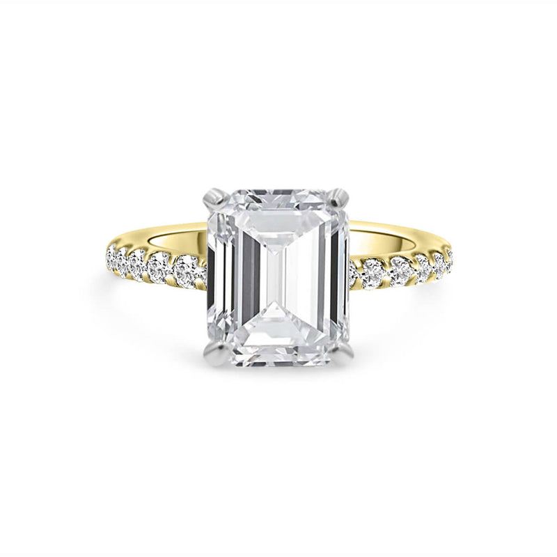 ELLEN Emerald Diamond Engagement Ring