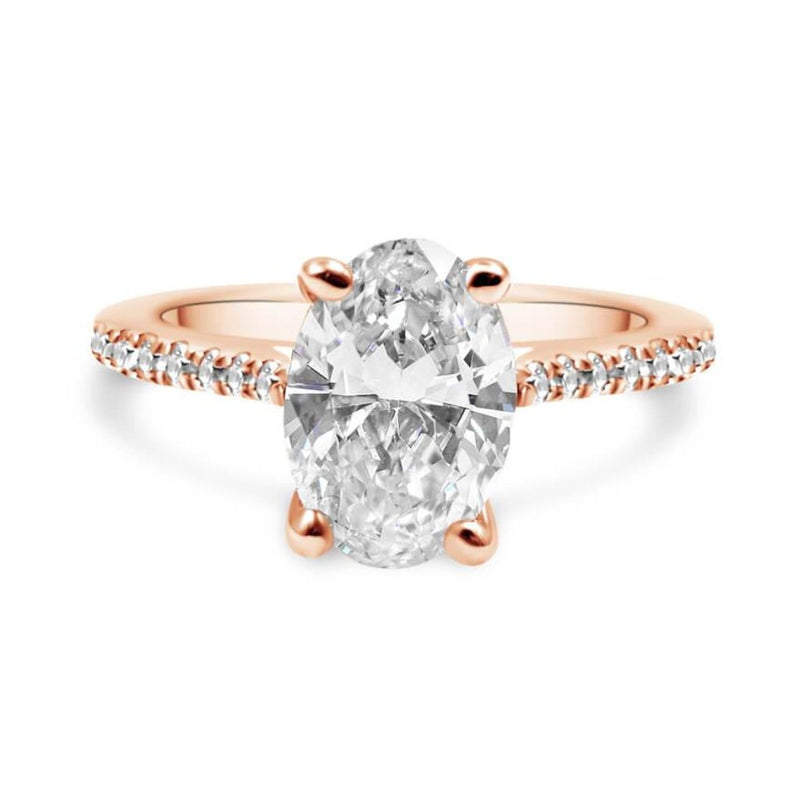 ESTHEFANNIA Oval Diamond Engagement Ring
