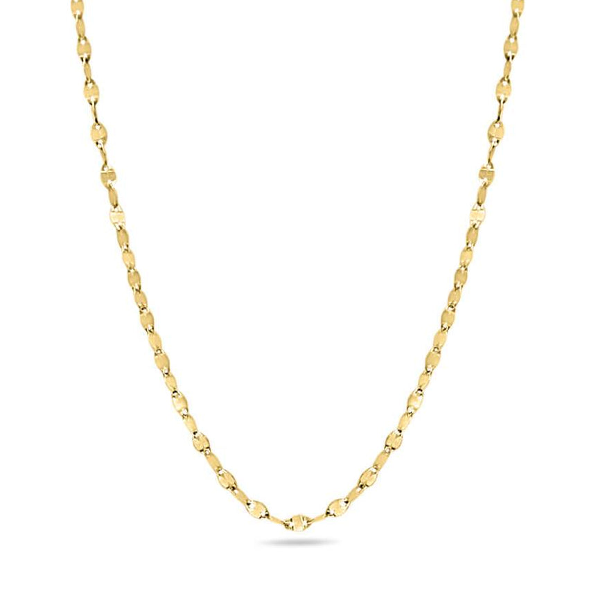 Figaro Disk Chain in 14K Solid Gold