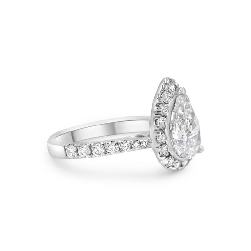 HARPER Pear shape Diamond Engagement Ring