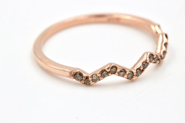 HAZEL | Stackable Champagne Diamond Ring