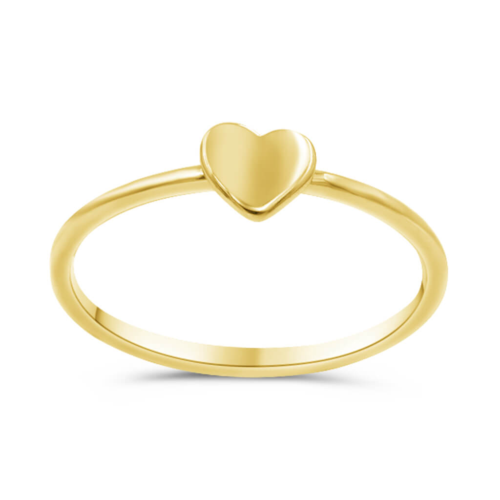 Heart Ring In 14K Solid Gold
