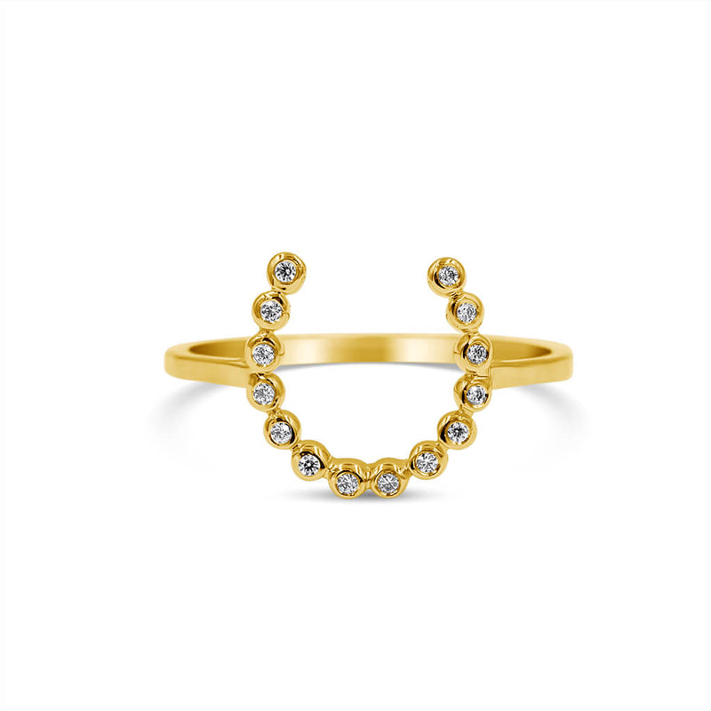 Horseshoe Diamond Ring