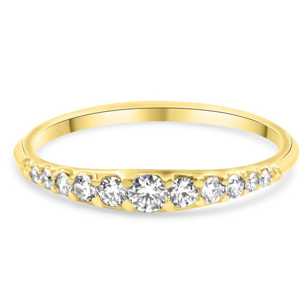EMMA | Tapered Diamond Wedding Band