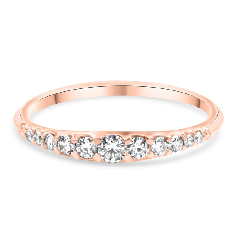 Emma Diamond Wedding Band in 14K Solid Gold