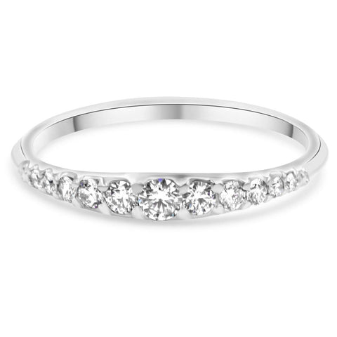 Ally Diamond Wedding Band In 14K Gold