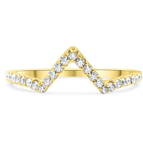 KATIE | Arrow Diamond Wedding Band