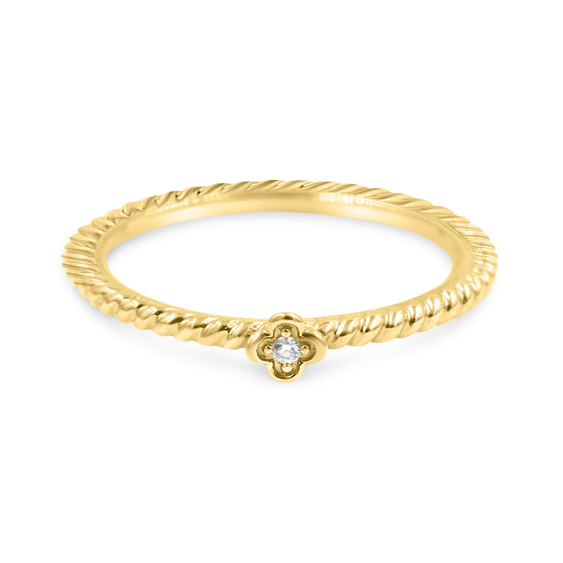 DAISY Stackable Diamond Ring Solid Gold