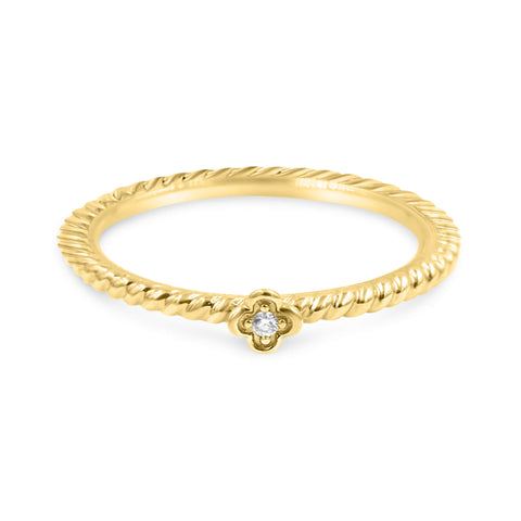 DAISY Stackable Diamond Ring 14K Rose Gold