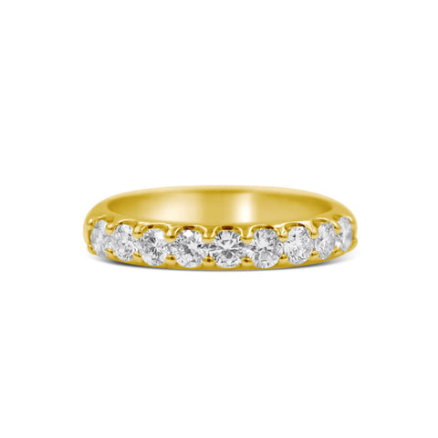 INDIA | Large Quarter Distance Diamond Wedding Band