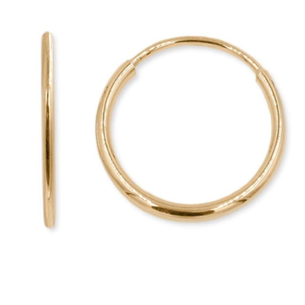 Infinity Endless Hoop Earring In 14K Gold 10MM