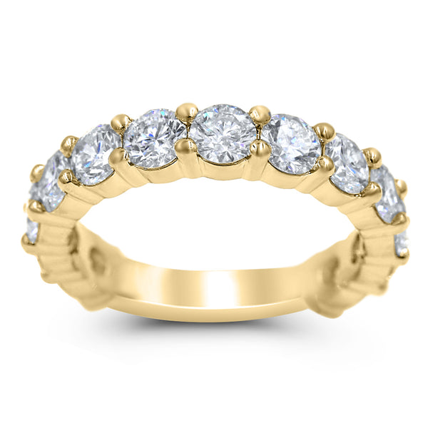 Ivana | Round Diamond Wedding Band