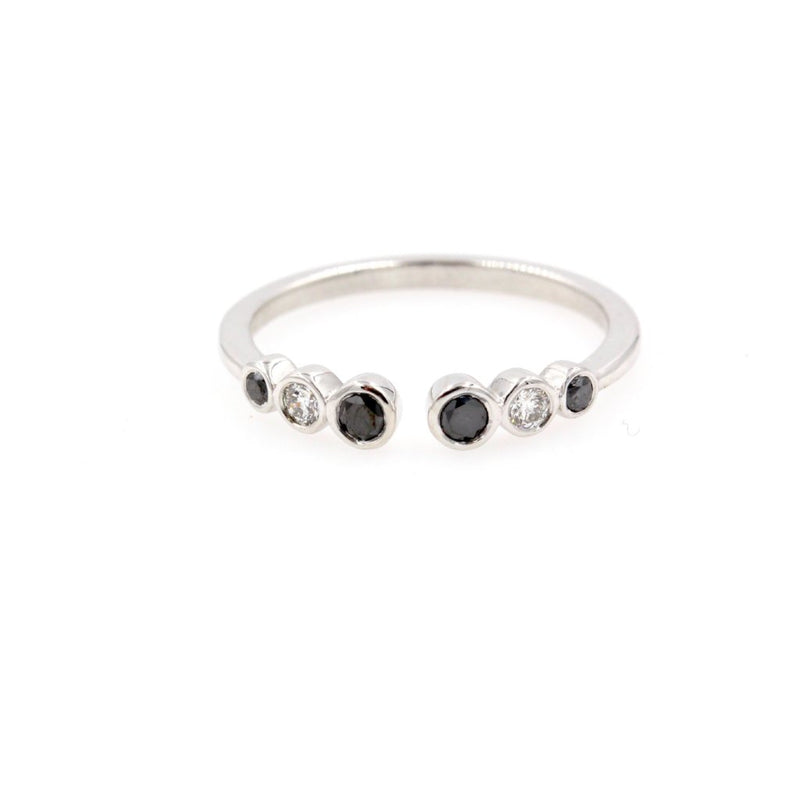 0e692317156c0 IVY Black White Diamond Stackable Ring - 14K Gold | Diamond Daughters