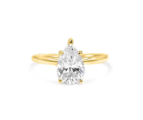 JOCELYN | Pear shape Solitaire Engagement Ring