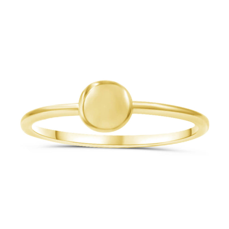 Juniper Circle Ring In 14K Solid Gold