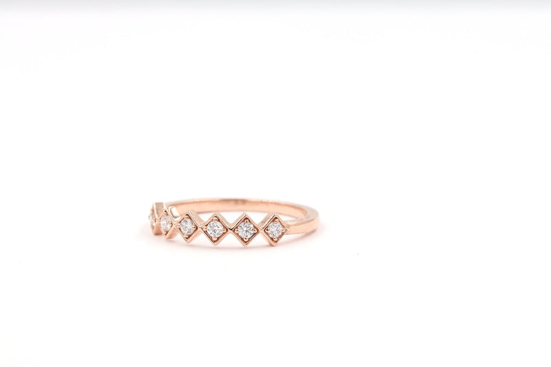 KALINA Stackable Diamond Ring - 14K Rose Gold