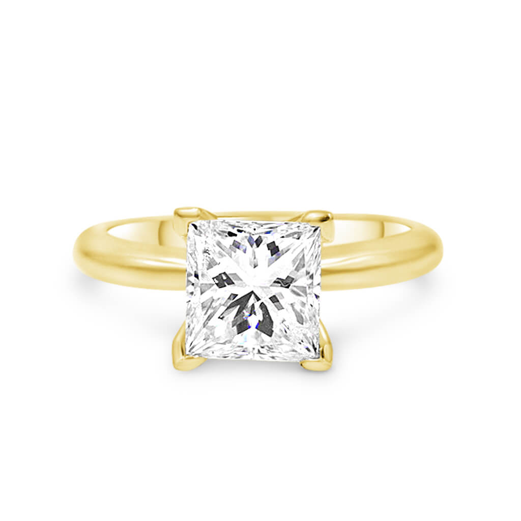 KENDRA | Princess Cut Solitaire Engagement Ring