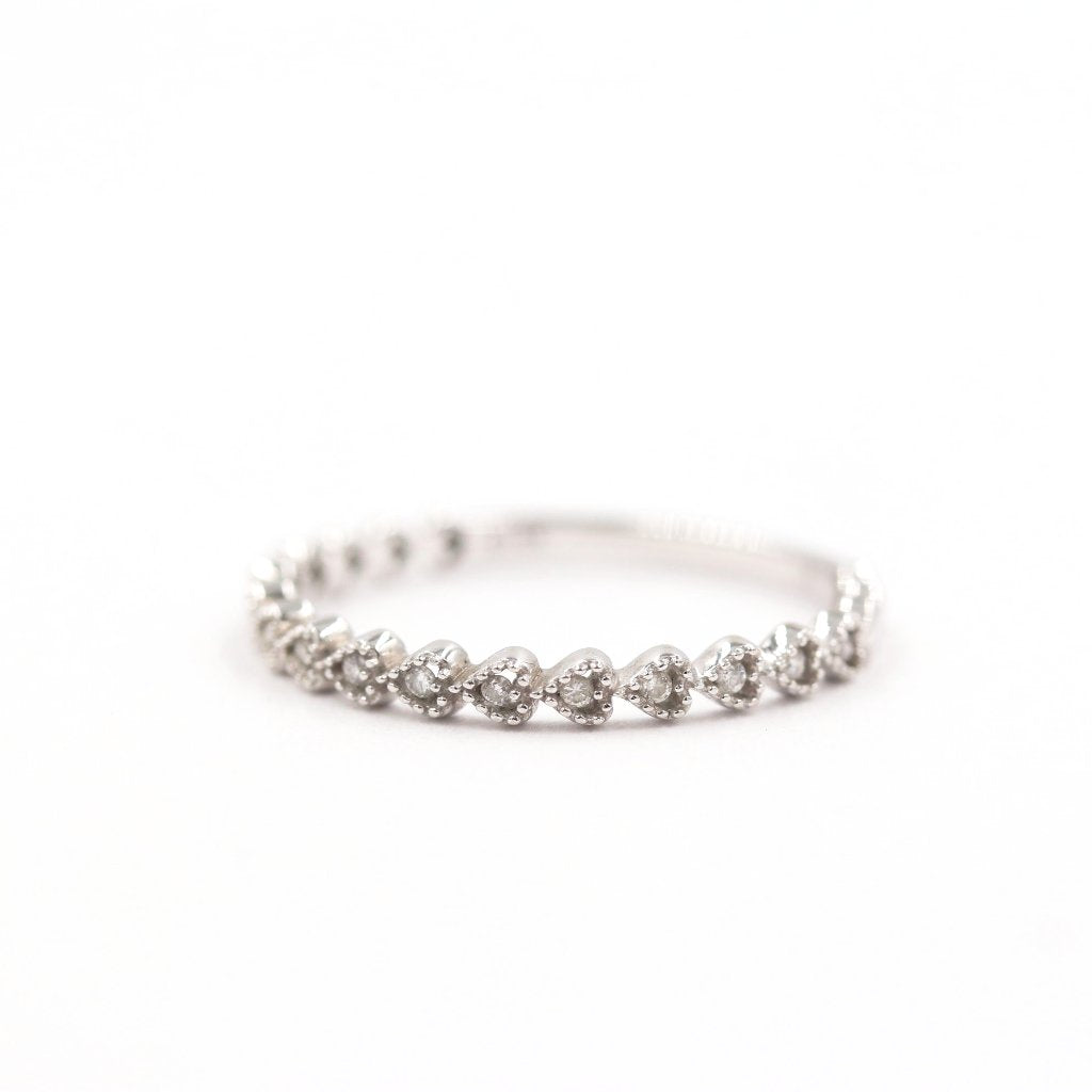 LILY Stackable Diamond Ring 14K White Gold