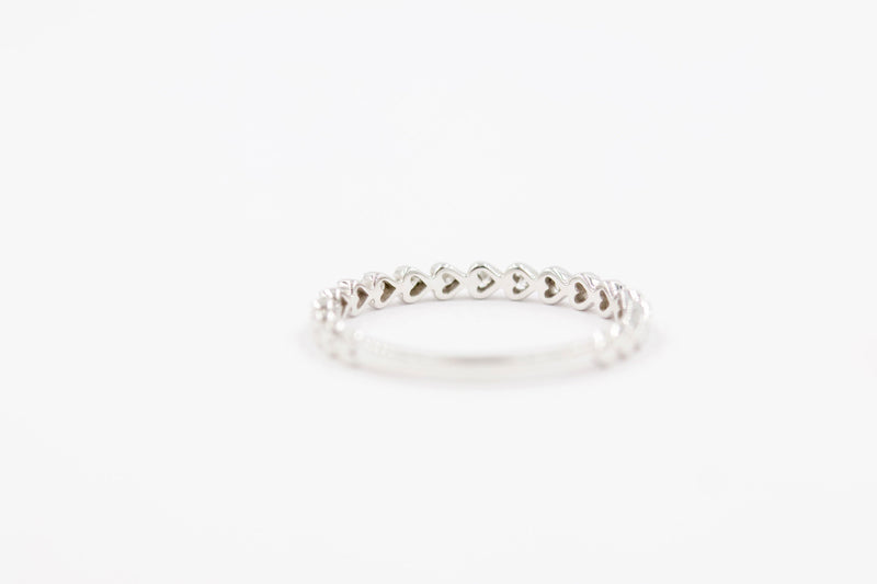 LILY Stackable Diamond Ring - 14K White Gold