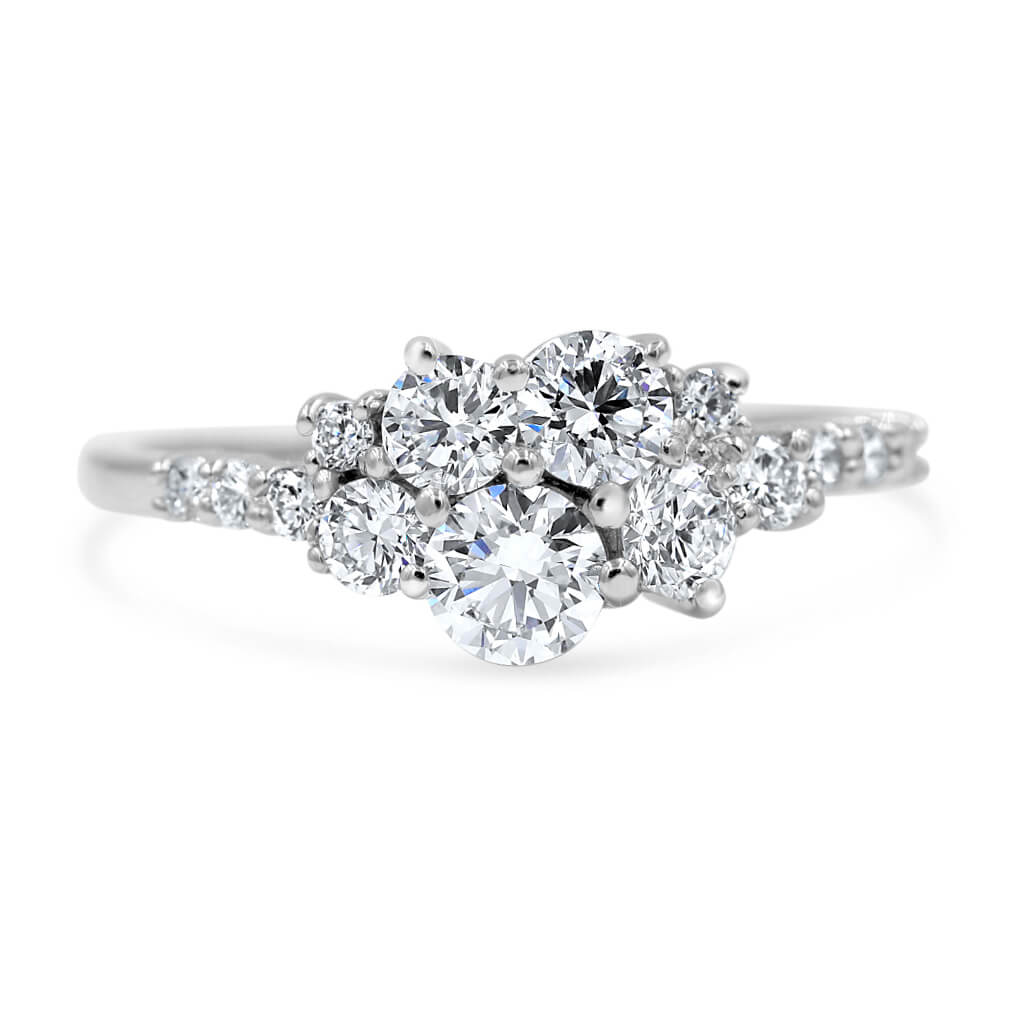 LING | Cluster Diamond Engagement Ring