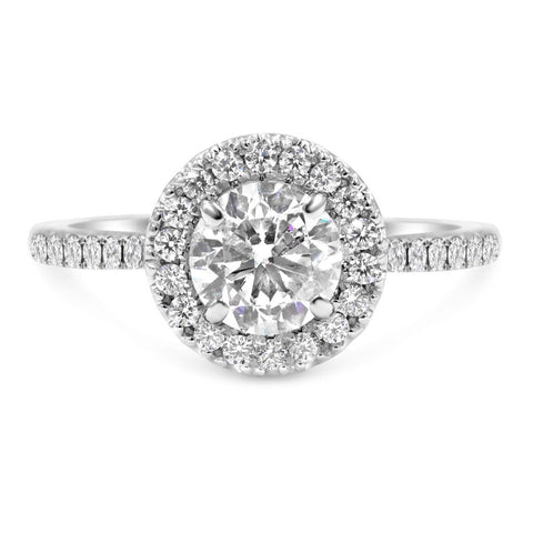 MARINE | Round Halo Engagement Ring